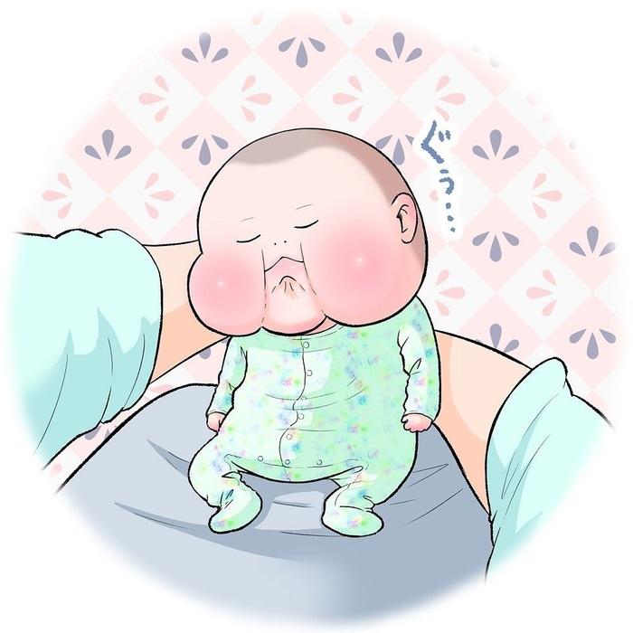 眼福…ぷにっぷに赤ちゃんの、超愛しい瞬間。うちの子もこの顔する〜!の画像2