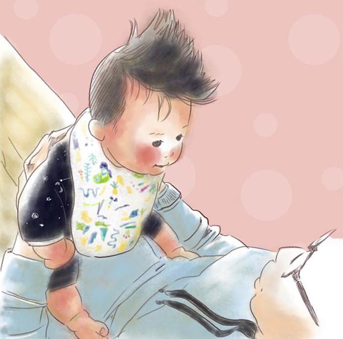 忙しい毎日も、君のためなら頑張れるよ!ママが描く息子の日常に癒されるの画像11