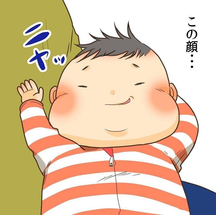 ロンパースのボタンを全開に…!0歳児の全力っぷりに目が離せないの画像3