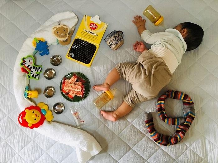 """発想がすごい!身近なアイテムで作れる、おもしろ""""お昼寝アート""""の画像6"""