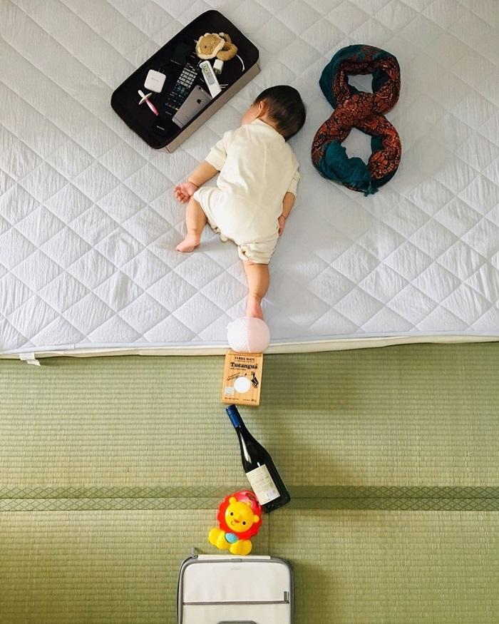 """発想がすごい!身近なアイテムで作れる、おもしろ""""お昼寝アート""""の画像5"""