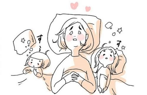女の子ふたり育児日記「寝たふりをしてみたら、最高の夜でした」のタイトル画像