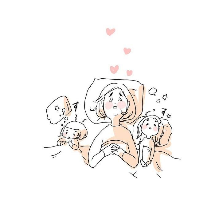 女の子ふたり育児日記「寝たふりをしてみたら、最高の夜でした」の画像25