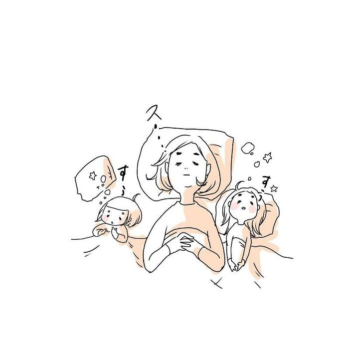 女の子ふたり育児日記「寝たふりをしてみたら、最高の夜でした」の画像24