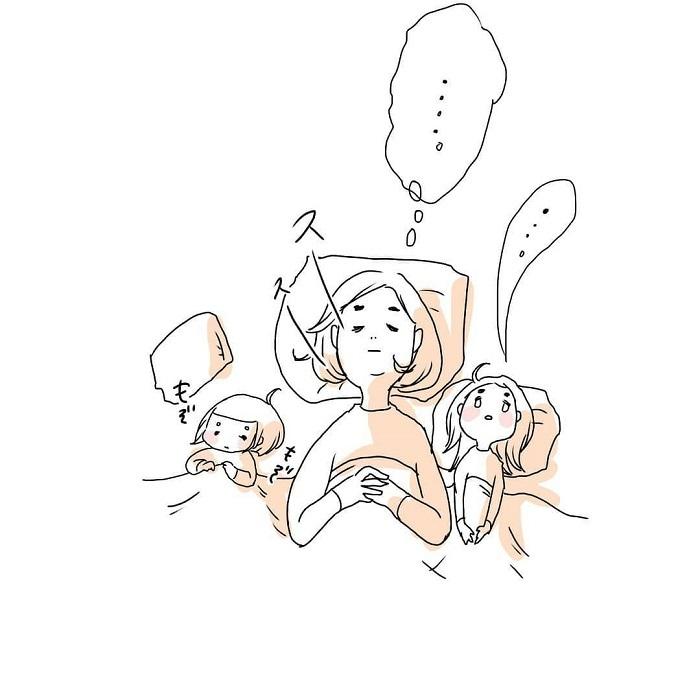 女の子ふたり育児日記「寝たふりをしてみたら、最高の夜でした」の画像19