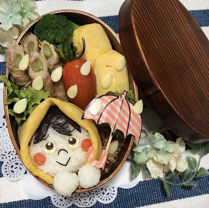 傘にてるてる坊主…雨の日が楽しくなる「雨モチーフのお弁当」大集合!の画像7