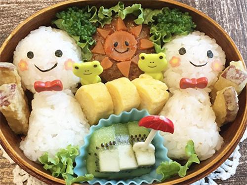 傘にてるてる坊主…雨の日が楽しくなる「雨モチーフのお弁当」大集合!のタイトル画像