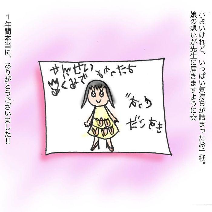 大好きな先生へ、やんちゃ娘が泣きながら書いた手紙の画像46