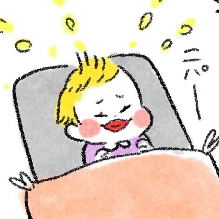朝方ズタボロ授乳中…上の子のモーレツ癒し行動が眠気を吹っ飛ばす!の画像8