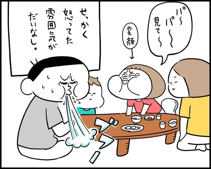 どうしてこうなった?食事中のしつけが、親子の変顔合戦に…。の画像10