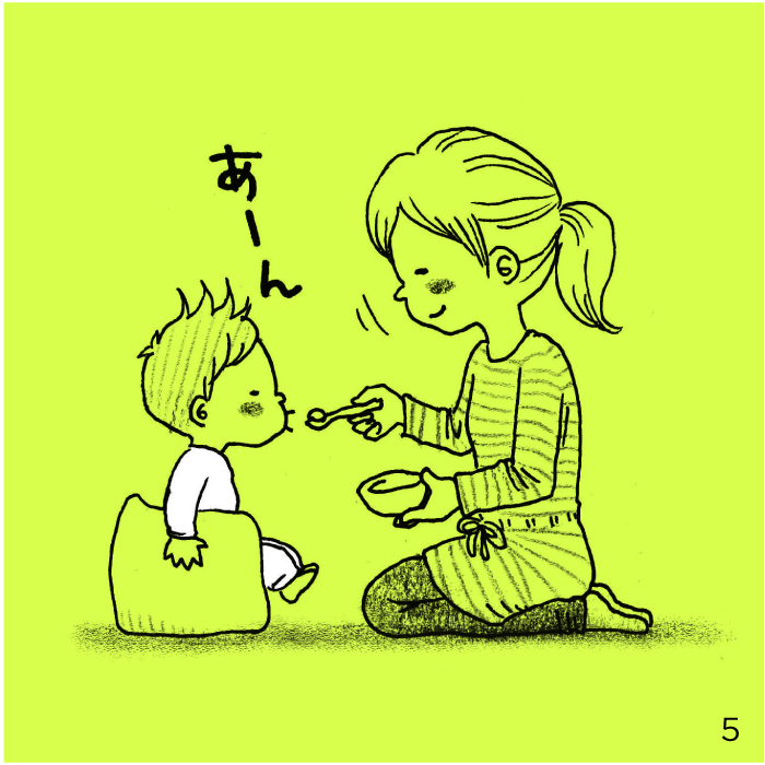 これぞ、母の悲喜劇!?離乳食をもぐもぐするお口に見惚れすぎた結果…の画像4