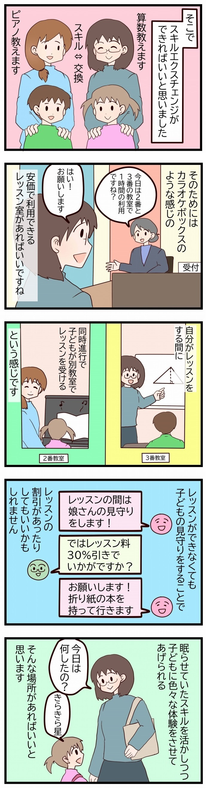 お金も時間も必要な「習いごと」…こんなシステムがあれば、みんなハッピーでは!?の画像2