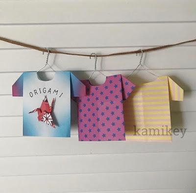 たくさん折ってTシャツ屋さんごっこ♪遊べるおしゃれ折り紙レシピ3選の画像1