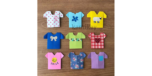たくさん折ってTシャツ屋さんごっこ♪遊べるおしゃれ折り紙レシピ3選のタイトル画像