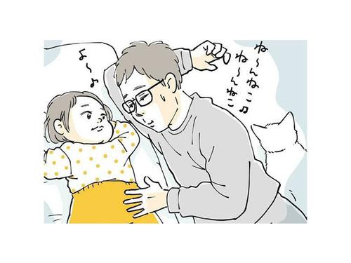 パパに寝かしつけを任せたら、失敗!でも怒れない、超キュートな理由のタイトル画像