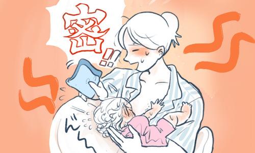 授乳中に髪を掻きむしる娘。初ヘアカットを決心するも、仕上がりはまさかの…!のタイトル画像