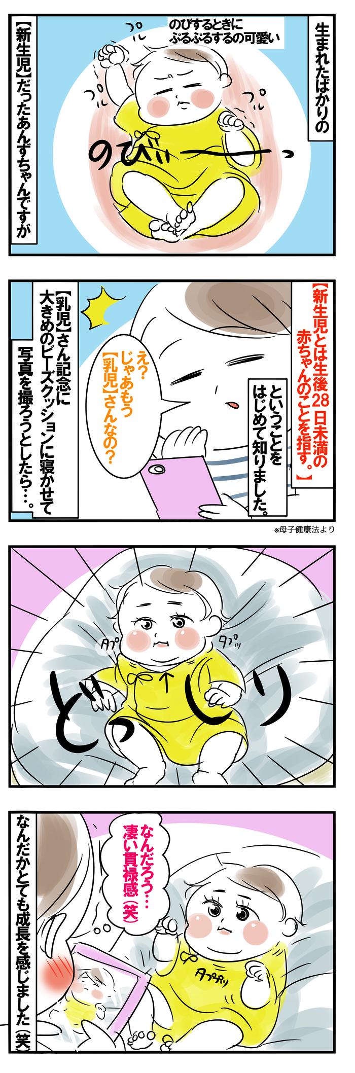 えっ、もう生後29日!?あんずちゃんの「今日から乳児さん」記念日の画像1