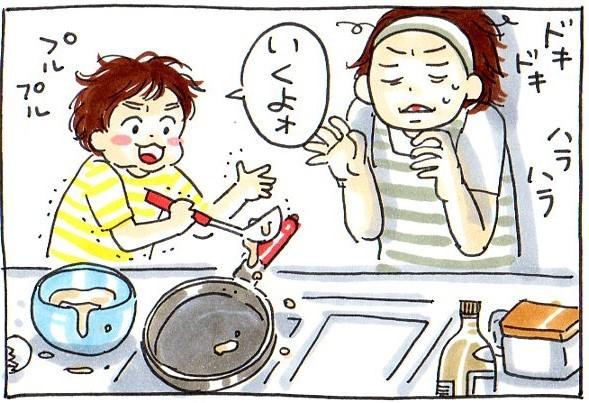 誰かにごはんを作るってどんな気持ち?初めてのホットケーキ作りで、息子が気づいたこと。の画像2