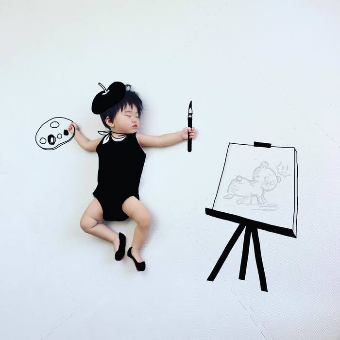 今年の夏こそ室内チャレンジ!癒しのお昼寝アートや赤ちゃんの面白写真を特集!の画像1