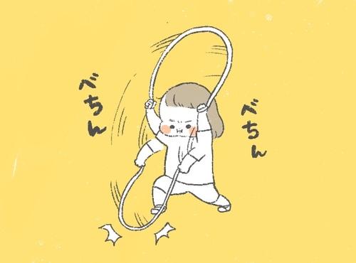 娘の縄跳び練習がもはやカオス…。教えるって、意外と難しい!のタイトル画像