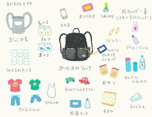 お着換えにシールブックに、ポリ袋に…マザーズバッグの中身、どんな感じ?のタイトル画像