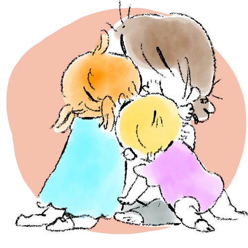 遊びながら成長する姿が愛おしい!「ぽぽちゃん」と3人のおねえさんのお話。の画像1