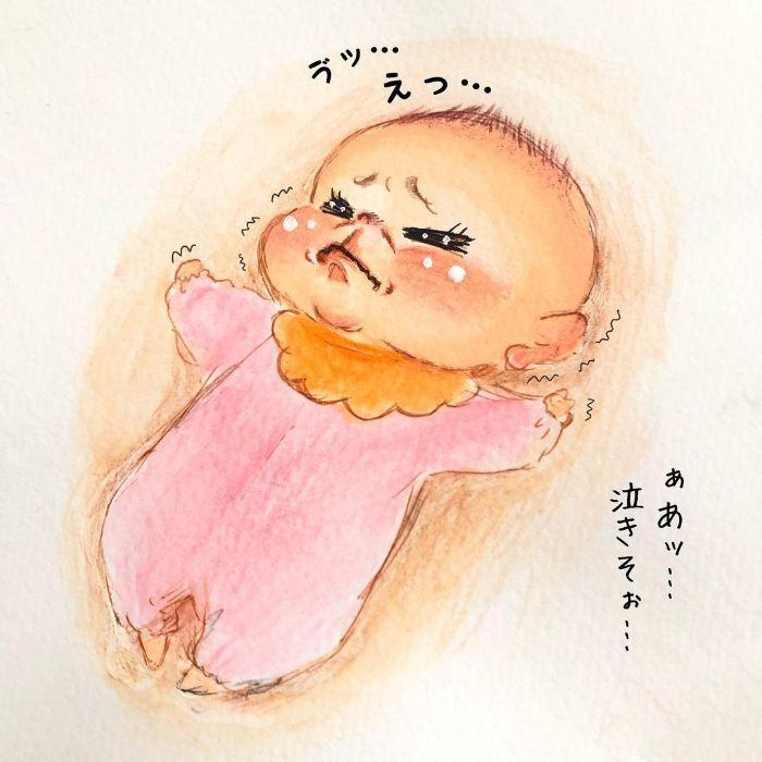 ゴクッ…これは泣く5秒前…!?表情ひとつで翻弄する、生まれたての日々♡の画像8