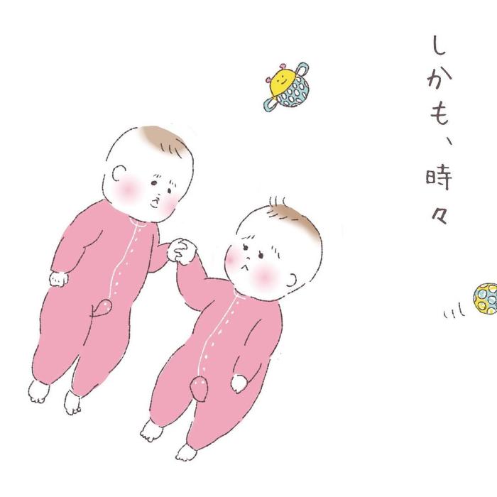 双子って最強におもしろカワイイ…ふと目を離したすきに、起きていることの画像9