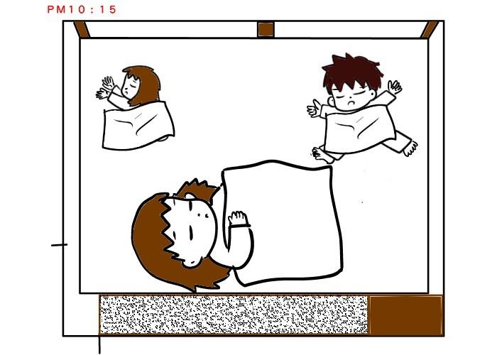 子どもの寝相に悩むママ。ゆっくり寝られる方法を発見するも…<第5回投稿コンテスト NO.119>の画像10