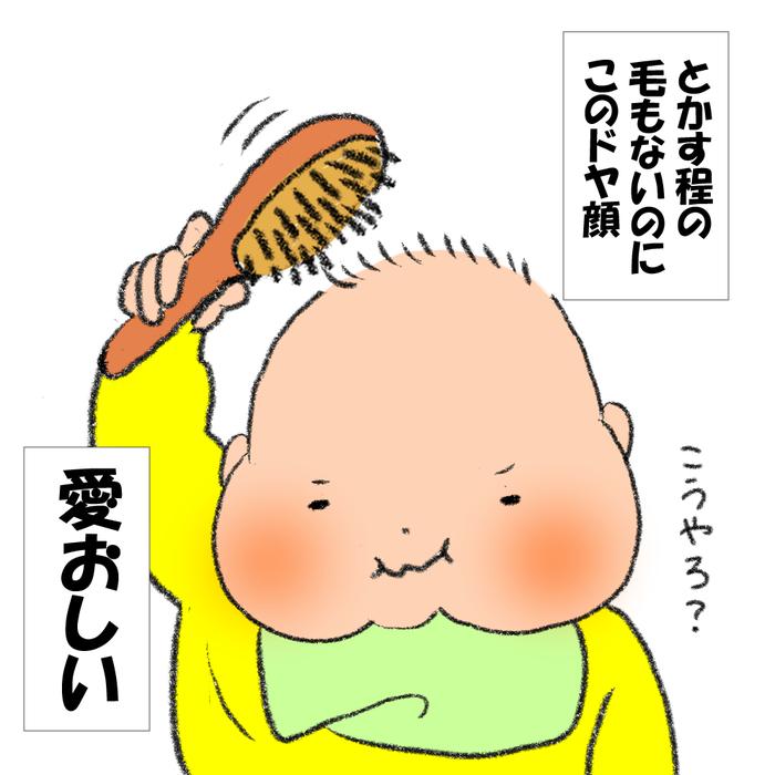 とかす髪もないのに…ドヤ顔でブラッシングの息子がかわいすぎる<第5回投稿コンテスト NO.69>の画像4