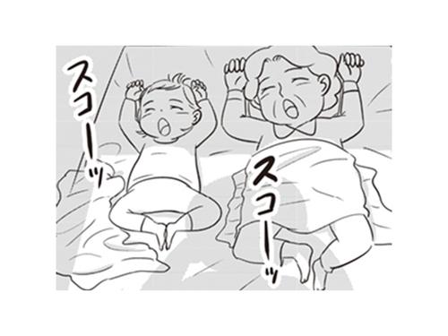 「似たもの親子」は寝相まで?妻と娘のシャッターチャンスは逃さない!のタイトル画像