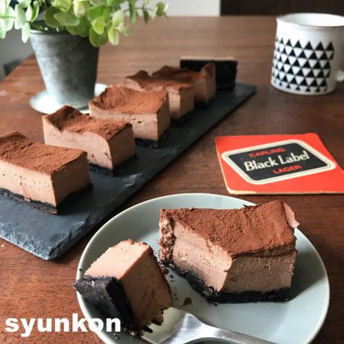 え、これレンジで作ったの!?ねっとり濃厚♡生チョコチーズケーキレシピの画像1