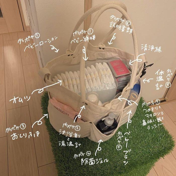 赤ちゃんのお世話セットを、とことん使いやすく!サッと取れて持ち運びも楽♪の画像2