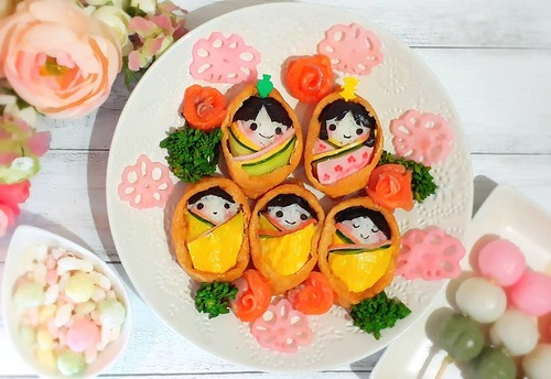 ひな祭りのご飯どうしよう…!?真似したい華やかごはん、まとめました♡のタイトル画像