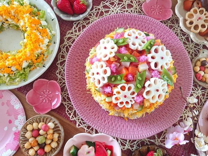 ひな祭りのご飯どうしよう…!?真似したい華やかごはん、まとめました♡の画像1