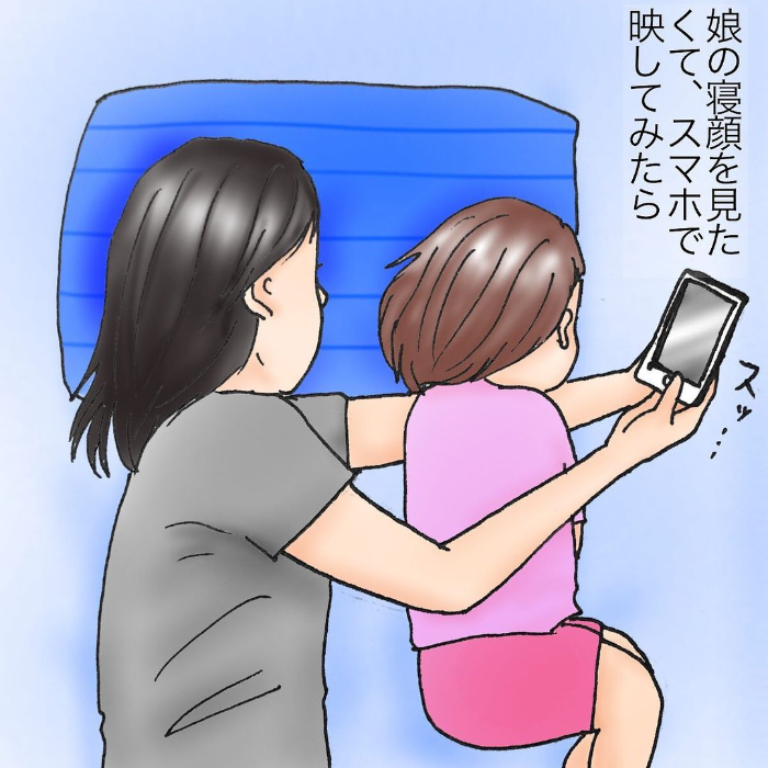 愛する娘の寝顔にほっこり&爆笑してたら…ちょ、うしろ!うしろ~!!(笑)の画像5