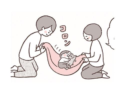 タオルで、お砂糖で、お家遊びがグレードアップ!寝返りやあんよ練習にものタイトル画像