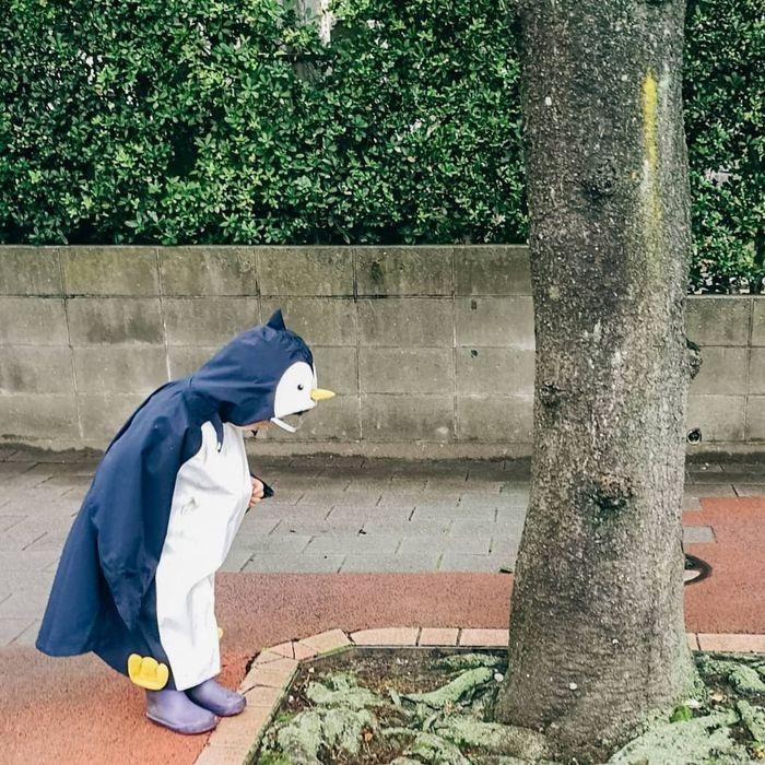 ご近所に恐竜やペンギンがあらわれる…!?雨の日限定!レインコーデ集の画像3