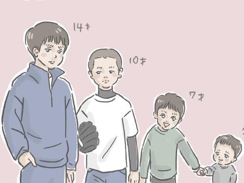 何歳まで息子を抱きしめられる?4人兄弟の母が検証してみたら…(笑)のタイトル画像
