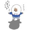 """ナニコレ!?ずっとず~っとついてくる…1歳児、""""影""""との尊すぎる戦いのタイトル画像"""