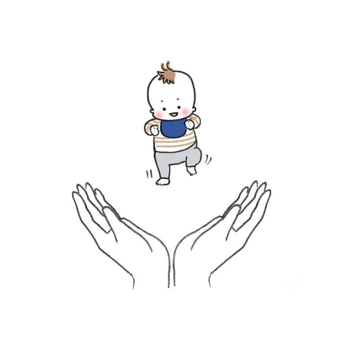 """ナニコレ!?ずっとず~っとついてくる…1歳児、""""影""""との尊すぎる戦いの画像8"""