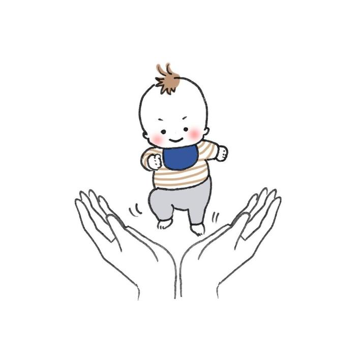 """ナニコレ!?ずっとず~っとついてくる…1歳児、""""影""""との尊すぎる戦いの画像9"""