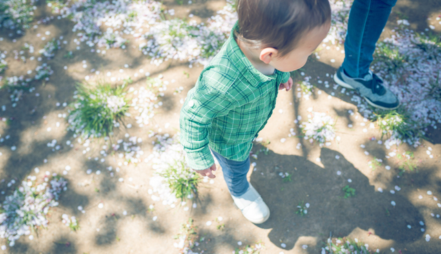 手の位置、それで合ってる?息子のお散歩スタイルにジワジワの画像2